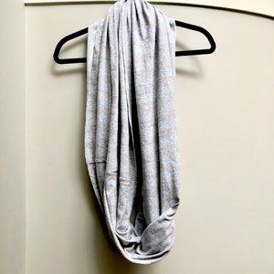 Gap Super Soft Cotton Grey Shimmer Infinity Scarf